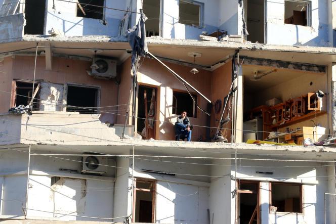 Un immeuble éventré à Alep le 19 octobre.