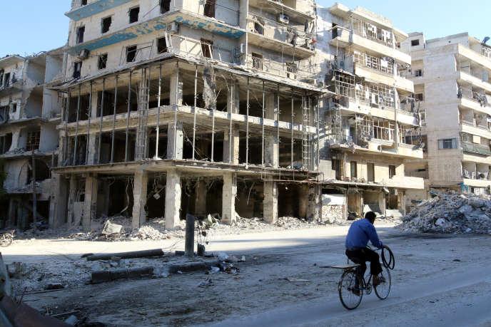 « La reconquête d'Alep ne signifie en aucun cas la fin de la violence qui ravage le pays depuis plus de cinq ans» (Photo: quartier est d'Alep, le 19 octobre).