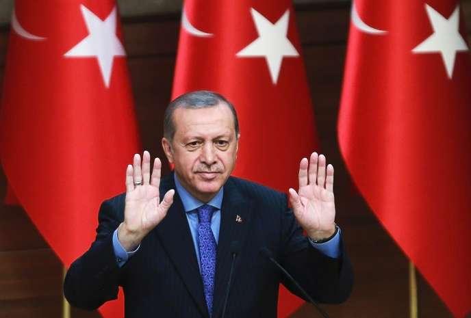 Le président turc, Recep Tayyip Erdogan, à Ankara, le 19 octobre.