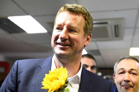 Le député européen Yannick Jadot après l'annonce des résultats.