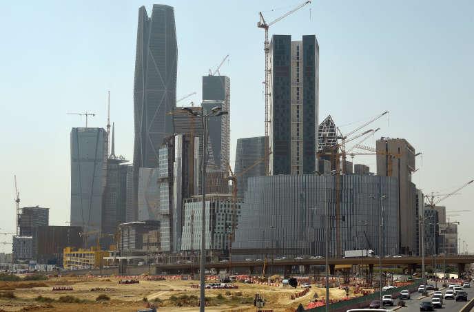 Le quartier financier de Riyad, la capitale saoudienne, en mars.