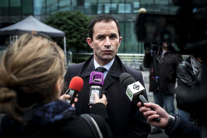 Le candidat à la primaire socialiste Benoît Hamon.