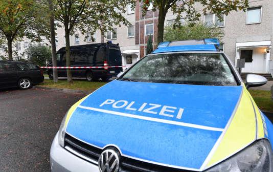 Une voiture de police allemande à Leipzig, le 10 octobre 2016.