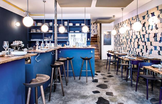 Le restaurant Belle Maison, spécialisé dans les produits de la mer, personnalisé par Emilie Bonaventure.