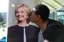 ne supportrice de la candidate démocrate, Hillary Clinton, le 18 octobre, à Los Angeles.