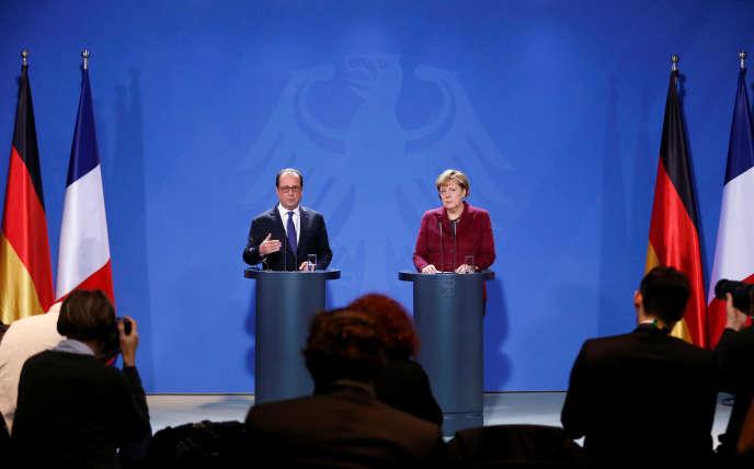 Angela Merkel et François Hollande, à Berlin, le 20 octobre.