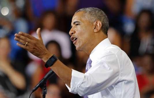 Le président américain Barack Obama à Miami Gardens, en Floride, jeudi 20 octobre.