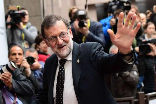 Mariano Rajoy à Bruxelles, le 20 octobre.