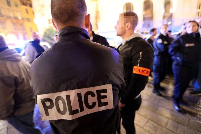 Rassemblement de policiers à Nice le 20 octobre.
