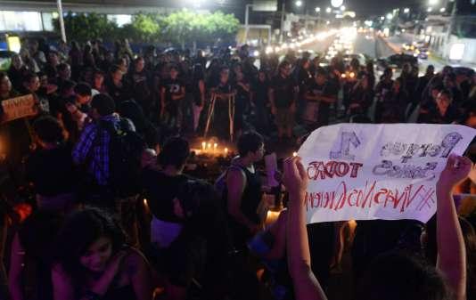Manifestation au Salvador, le 19 octobre.
