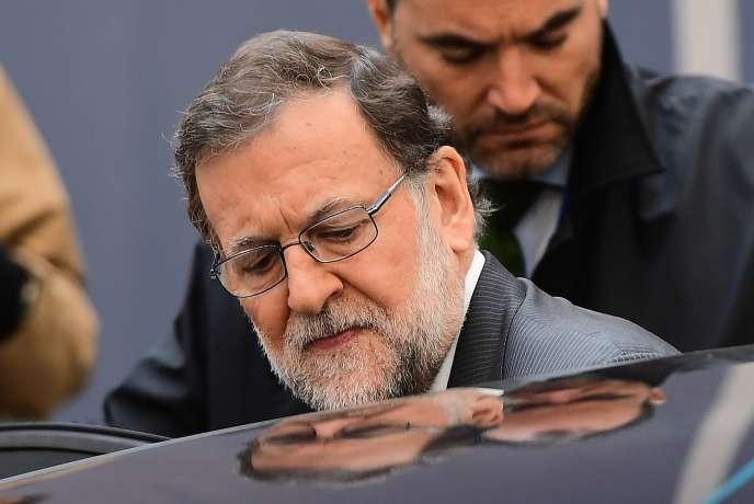 Mariano Rajoy, président du Parti populaire et chef du gouvernement espagnol par intérim, le 21octobre.