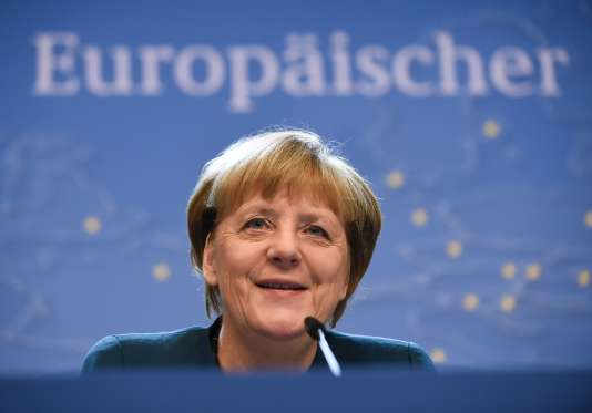 Angela Merkel au conseil européen de Bruxelles, le 21 octobre.