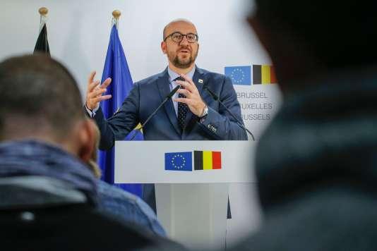 Le premier ministre belge, Charles Michel, le 21 octobre à Bruxelles.