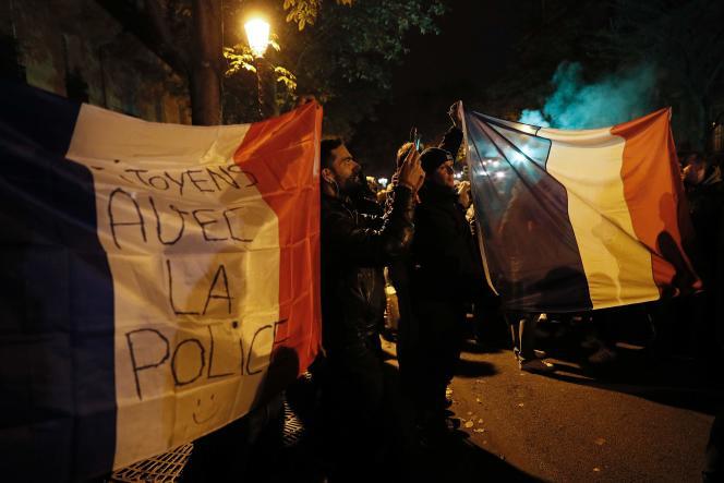 Manifestation de policiers, le 21 octobre, à Paris.