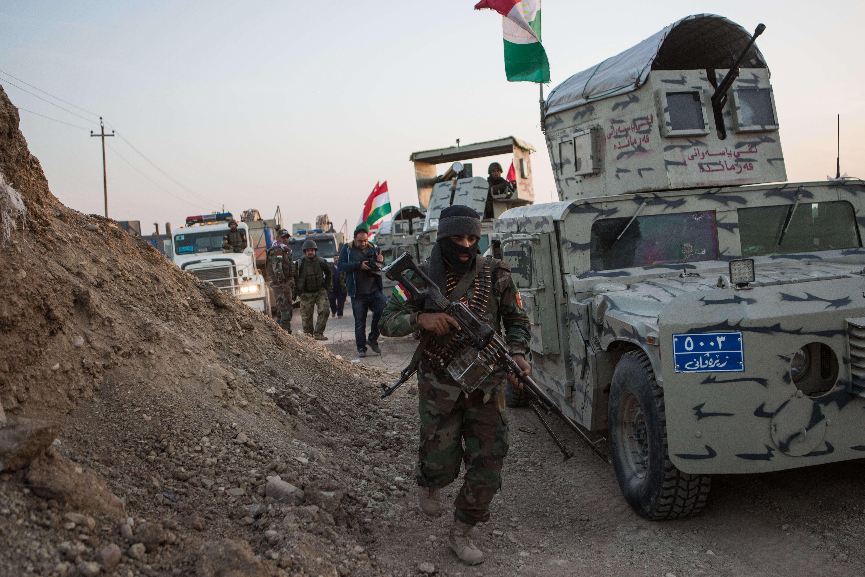 Deux convois vont partir de deux endroits différents et ont pour objectif d'encercler la ville de Bashiqa.