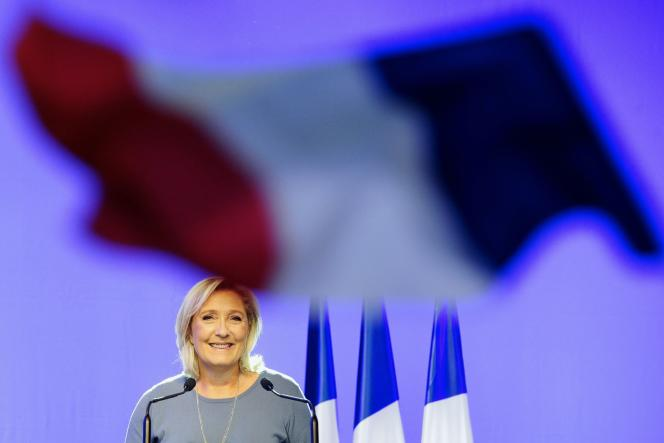 Marine Le Pen lors de son discours à Fréjus, le 18 septembre 2016.