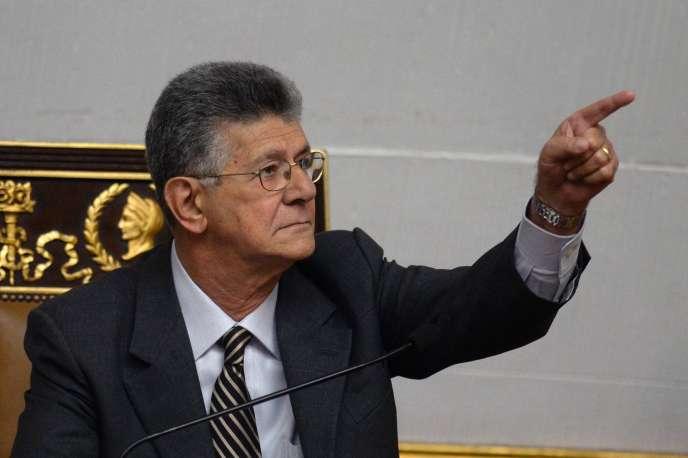 Henry Ramos Allup, président du Parlement.