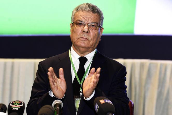 Amar Saadani, ici en mai 2015, alors qu'il était encore secrétaire général du FLN, lors du Xe congrès du parti.