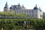 Vignes et chateau dans la région de Ningxia en septembre 2015.