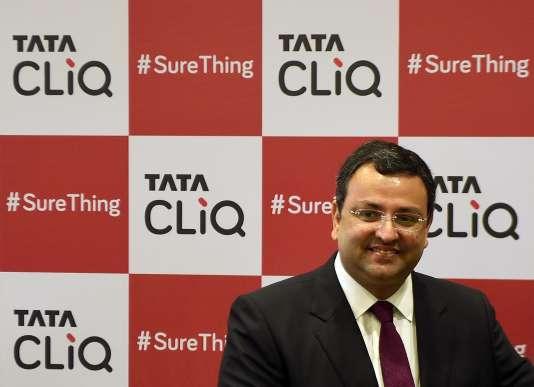 Cyrus Mistry lors du lancement du site« Tata Cliq», à Bombay (Inde), le 27 mai.