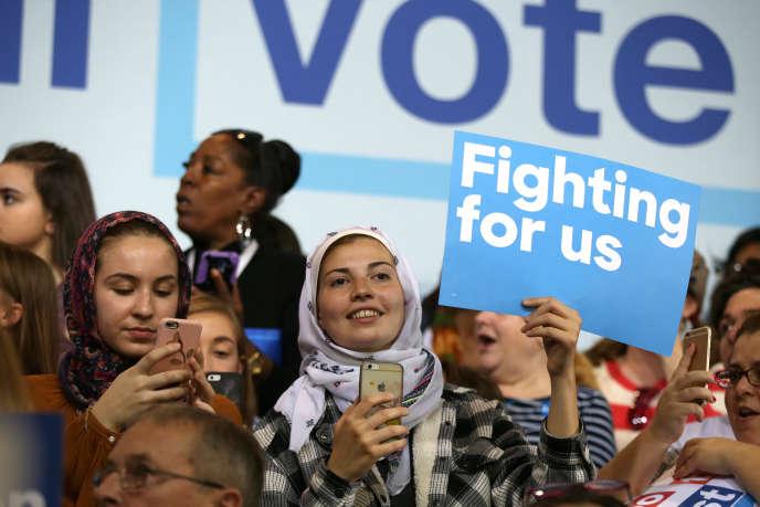 Lors d'un meeting d'Hillary Clinton, le 10 octobre à Detroit.