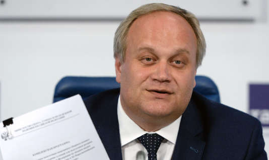 Iouri Nagornykh, le 13 mai, lors d'une conférence de presse à Moscou.