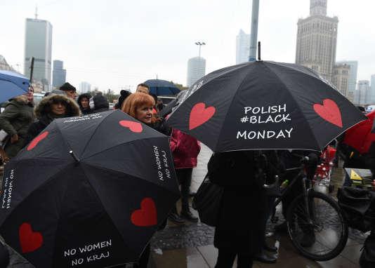 Manifestation à Varsovie, le 24 octobre.