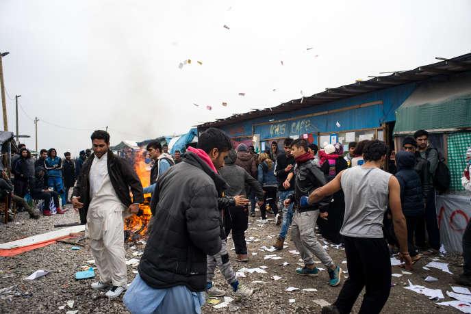 Jungle de Calais, le 24 octobre.