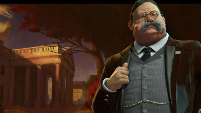 Theodore Roosevelt, dirigeant de la civilisation américaine dans «CivilizationVI».