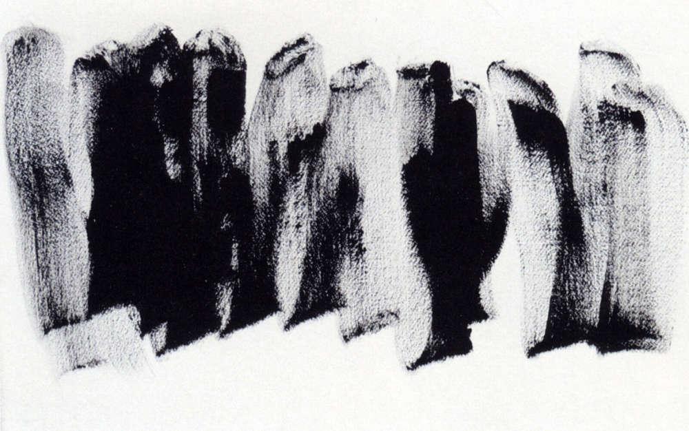 """«C'est Michaux, c'est abstrait. Et pourtant ces formes sont là, face à nous, comme une barricade de corps qui disent """"non""""! »"""