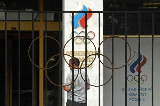 Le siège du Comité olympique russe, le 25juillet.