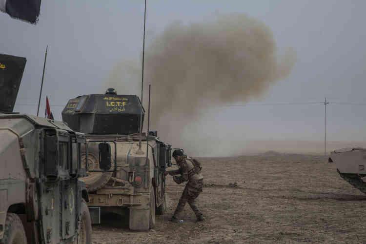 Une mine posée par l'EI explose dès le premier kilomètre parcouru parla Division d'orentre Basakhrah etTarbazawah.