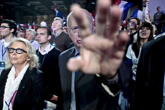 Aux Sables-d'Olonne, le 4 mai 2012, lors du dernier meeting de campagne de Nicolas Sarkozy.