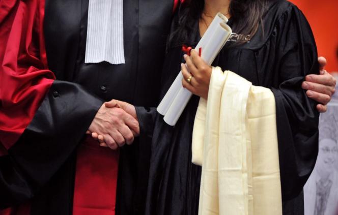 Remise des diplômes à l'université Pierre-et-Marie-Curie, à Paris, en2009.