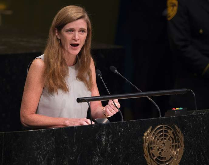 Samantha Power, ambassadrice des Etats-Unis aux Nations unies, le 13 octobre.