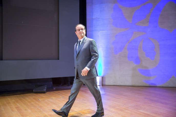 François Hollande lors de la célébration du centenaire de la naissance de François Mitterrand, le mercredi 26 octobre.