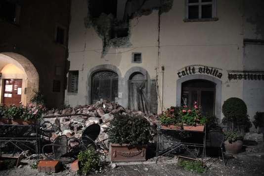 A Visso, l'un des villages du centre de l'Italie touché par les secousses.