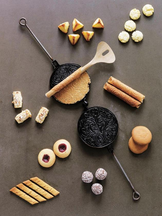 Assortiment de pâtisseries scandinaves.