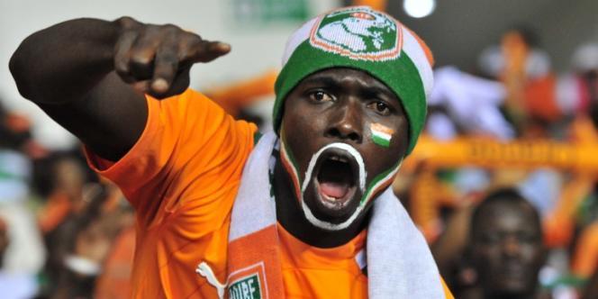 Un supporteur ivoirien, lors de la CAN 2012, au Gabon.