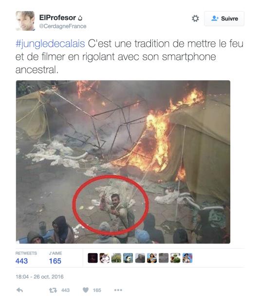 La photo a été retweetée plusieurs centaines de fois.