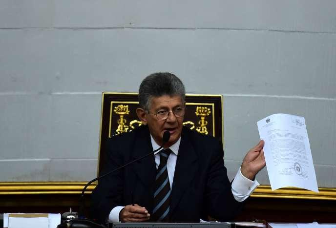 Le président de l'Assemblée nationale, Henry Ramos Allup.