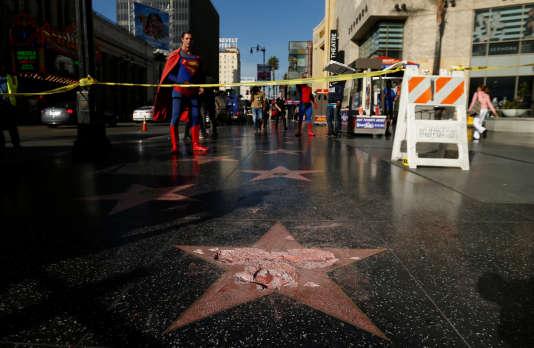 L'étoile de Donald Trump sur Hollywood boulevard, à Los Angeles, a été vandalisée dans la nuit du 25 au 26 octobre.