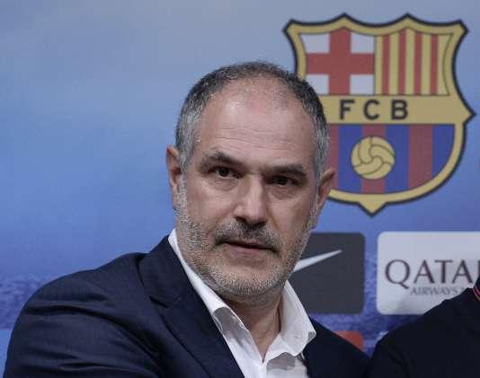 Andoni Zubizarreta, le 24 juillet 2014. Il était alors directeur sportif du Barça, avant d'être limogé, début 2015.
