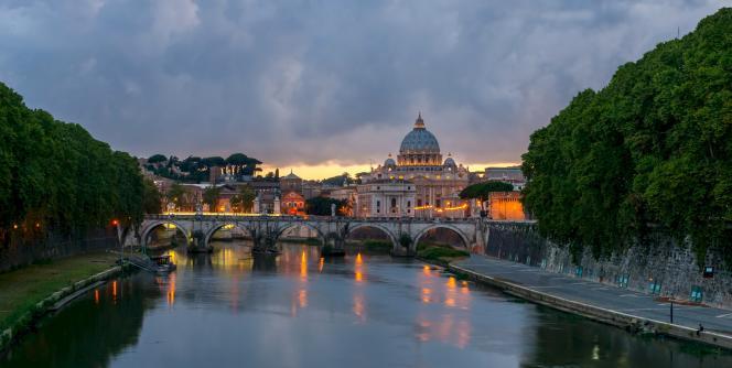 Le Pont Angelo, à Rome