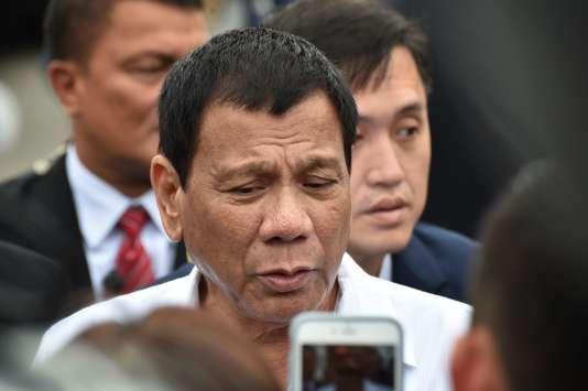 Le président philippin Rodrigo Duterte lors d'un déplacement au Japon le 27 octobre.