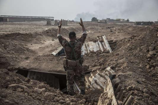 Dans les faubourgs de Bazwaya, le major Salam Jassim Hussein commande la «Division d'or» – les forces antiterroristes irakiennes.