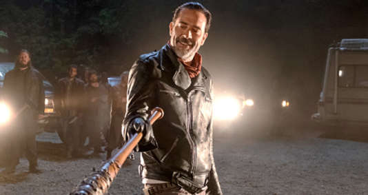 Jeffrey Dean Morgan, alias Negan, dans la saison 7 de « The Walking Dead » (AMC).