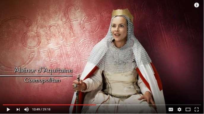 Sur la chaîne YouTube « Confessions d'histoire», des acteurs dirigés incarnent des personnages historiques, tels que Jules César, Vercingétorix ou encore Aliénor d'Aquitaine.