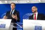 Paul Magnette et Martin Schulz, le 22 octobre, à Bruxelles.