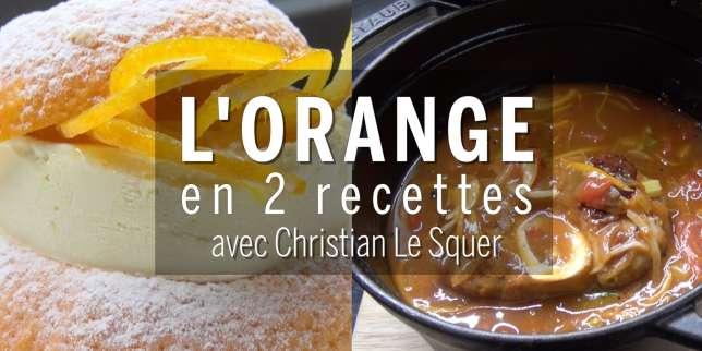 Comment cuisiner l 39 orange avec christian le squer - Comment cuisiner l angelique ...